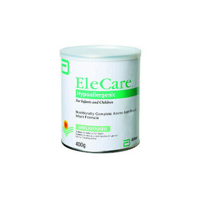 New EleCare Hypoallergenic Amino Acid Based Formula 400g Infants and Children