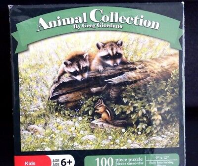 Greg Giordano Animal Collection Want to Play 100 Piece Jigsaw Puzzle Karmin