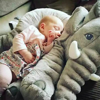 Long Nose Elephant pillow case Plush Toys Doll Baby Kids Cushion just cover