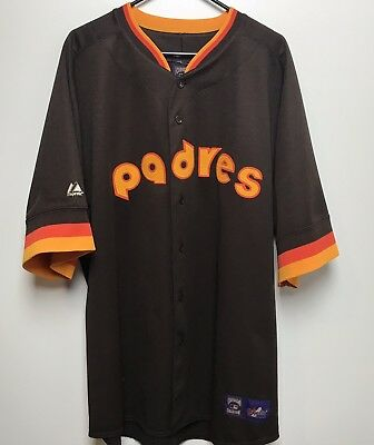 various colors 5f0c1 63d03 COOL SAN DIEGO Padres Men's Lg Brown Majestic Cooperstown ...