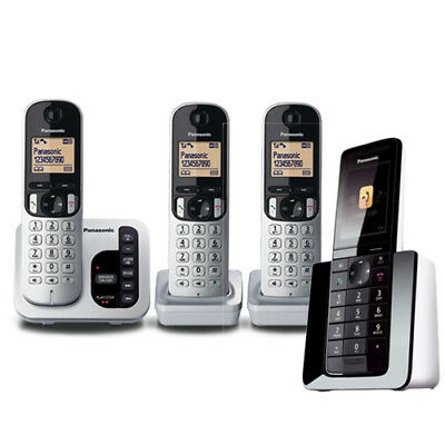 Panasonic KX-PRS120AZW Cordless Phone - QUAD KIT with GEN PANASONIC WARR
