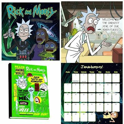 Official 2019 Rick and Morty Calendar Diary Bundle Pack TV Comic Gift Present