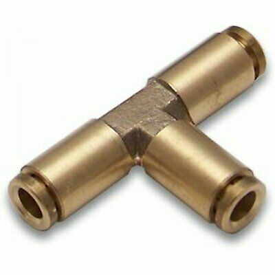 1 Brass 1/4 in TEE Fitting Push On Air Ride tank bags horn bagged push connect