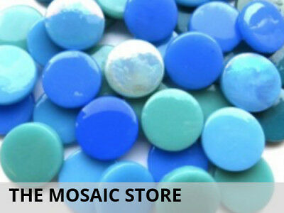 Mixed Teal Large Glass Dots | Mosaic Tiles Supplies Art Craft