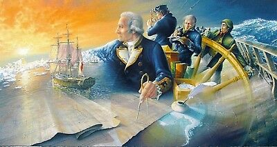 First to the Farthest South HMS Resolution Captain Cook P.Qual. PRINT Brian Wood