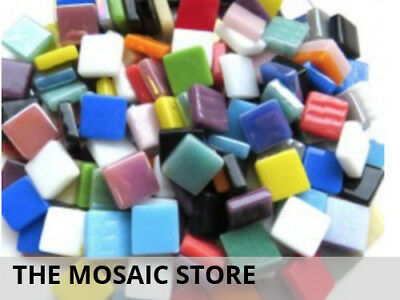 Mixed Coloured 12mm Glass Tiles | Mosaic Supplies Tiles Art Craft