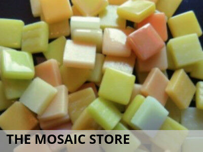 Yellow Mixed 12mm Glass Tiles | Mosaic Tiles Supplies Art Craft