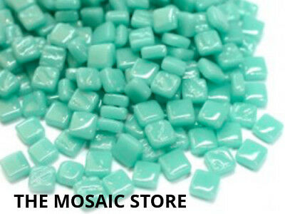 Pale Teal 8mm Glass Tiles - Micro Small Mosaic Tiles Supplies Art Craft