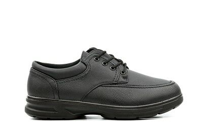 Dr Keller Mens Wide Fit Shoes Black Lace Up Light Weight Casual Formal Fitting