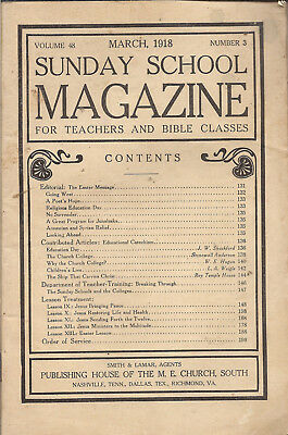 9 vintage issues of The Sunday School magazine from 1912 - 1918