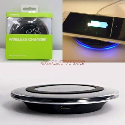 Samsung Galaxy S6 S7 S8 S9 Plus Genuine QI Wireless Charger Charging Pad iPhone