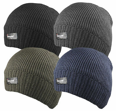 Mens Thinsulate Thermal Insulation Walking Hiking Fleece Lined Beanie Hat HAI704