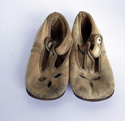 Antique Vintage Leather Baby toddler Shoes Free Shipping