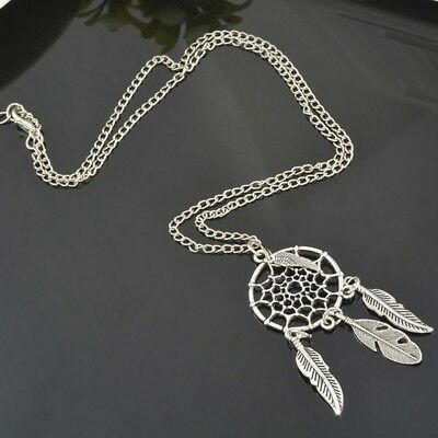 Women Retro Dream Catcher Pendant Long Chain Necklace Dreamcatcher Jewelry