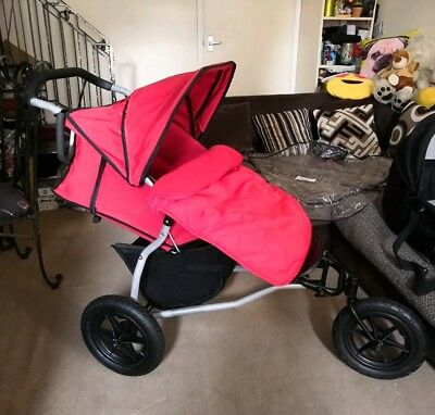 Mountain Buggy URBAN Single Seat STROLLER PUSHCHAIR with Extras
