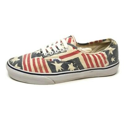 6eed525a84 Vans Van Doren Mens Sz 10 Stars Stripes Red White Blue Flag Skate Low Top  Shoes
