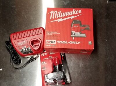 Milwaukee 2445-20 M12 Cordless Jig Saw + (1) 6.0AH Battery + (1) M12 charger NEW