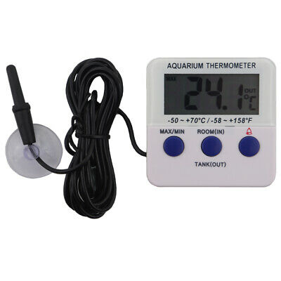 Digital Fish Tank Thermometer Aquarium Marine Tropical Alarm & Max Min In-138