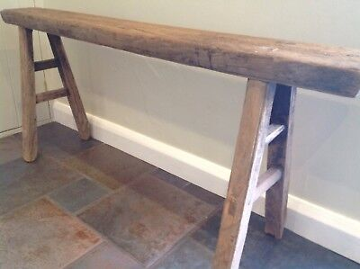 Authentic 18th C Elm Bench French