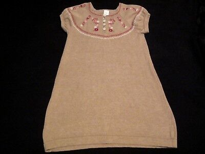 Baby Girls Toddler Carter's, Tan/Light Brown w/Flowers Sweater Dress Size 4T
