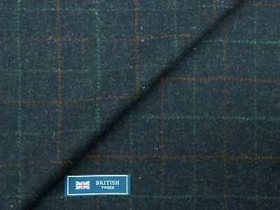MIXTURE BLUE//NAVY SHADE MADE IN ENGLAND 2.55METRES 100/% WOOL JACKETING FABRIC