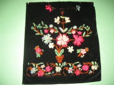 Antique Authentic Traditional Ethno Folk Hand Embroidered Serbian Woolen Apron