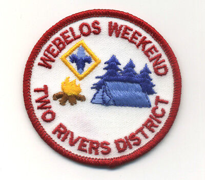 Two Rivers District Webelos Weekend Boy Scout Patch