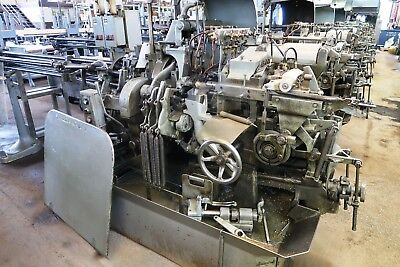 """3/4"""" Davenport Model B Long Bed 5-Spindle Automatic Screw Machine New 1973"""