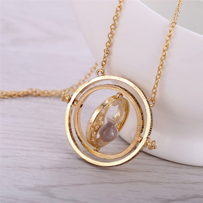 18k Gold Plated  - Harry Potter Time Turner Necklace - Hermione Granger - Spins
