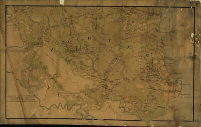 "HP 18/"" x 24/"" 1863 Map Of Catoosa County /& Parts Of Whitfield Murray /& Walker"