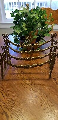 Vtg Two's Company Brass Victorian Letter Holder, Collapsible, w/Tag