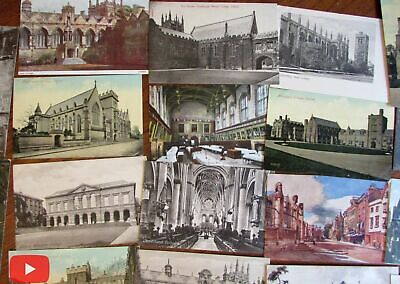 Oxford England old postcards lot x 40 early 1900's city views colleges churches