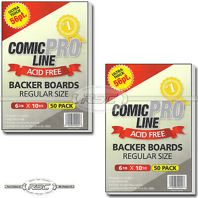 "100 - Comic Pro Line Regular Size 56pt Premium Backer Boards - 6-7/8"" x 10-1/2"""