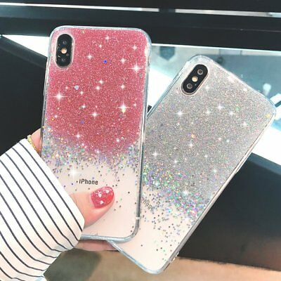 Bling Glitter Sparkly Girls Soft Phone Case Cover For iPhone XS 7 6s 5SE 8 plus