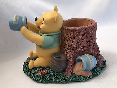 Disney Winnie the Pooh Bear And Tree Pencil Holder Office Desk Set Organizer
