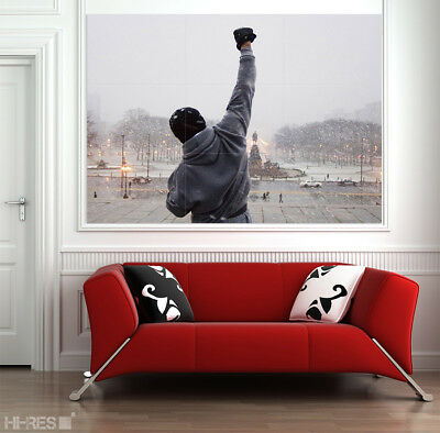 Rocky Balboa Movie Poster Sylvester Stallone Boxing Sport Giant Wall Art 50x35