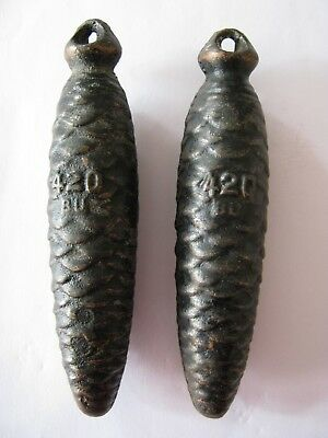 Original Pair of Vintage Cuckoo Clock Weights 420 grams BU