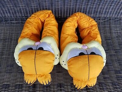 GARFIELD Polyester SLIPPERS House Shoes - Size X-Large 9 - 10
