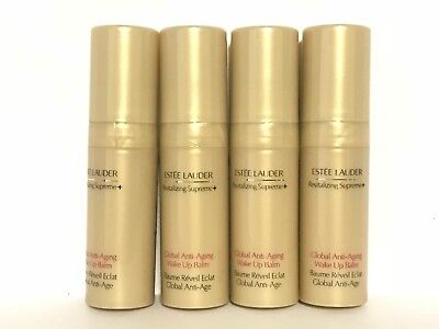 4 X Estee Lauder Revitalizing Supreme Global Anti Aging Wake Up Balm 5 Ml Each