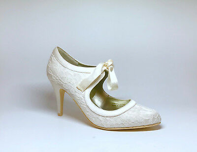 BHS Wedding Alice Collection Lace ivory shoes Size 5
