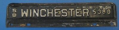 1958 Winchester Virginia License plate never used