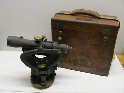 Vintage BERGER & Sons Surveying Transit Level 2T-1494 w/ Wooden Box