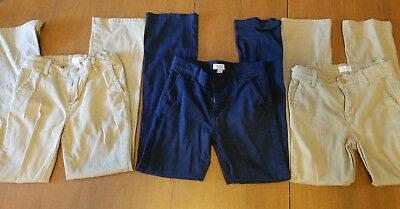 The Childrens Place Girls Navy Blue Uniform Chino Pants Size 10