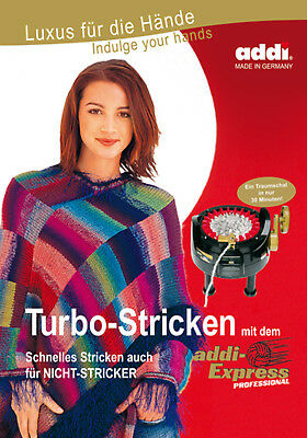 Handarbeitsbuch Turbo tricoter avec la addi Express 991-0//992-0 allemand//ENGLISH