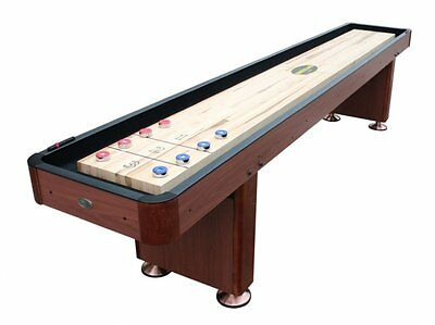 12 Foot Shuffleboard Table The Standard In Cherry By Berner Billiards New