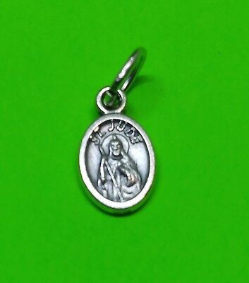 Italian made Small charm St Jude Oval medal Saint of miracles Tough cases