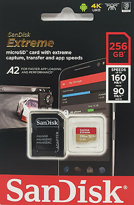 SanDisk 256GB Extreme Micro SD SDXC Memory Card GoPro Dji Drone Action Camera