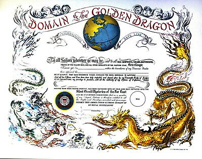 Domain Of The Golden Dragon (International Date Line 180th Meridian) USCG