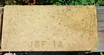 Vintage Jay Bee Fine Fire Brick Stamped 'jbf 1A' Wedge Brick