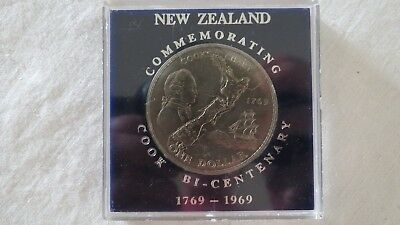 1769-1969 Unc. Sealed Cook Bi-Centenary Commemorative $1 New Zealand Coin